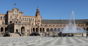 4K UltraHD The Beautiful Plaza de Espana in Seville, Spain. 4K UltraHD Plaza de Espana in the city of Seville, Spain. Built in 1929 to host the Ibero-American stock video footage