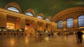 4K UltraHD Busy Grand Central Station inNew York stock video footage