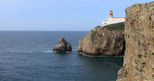 4K UltraHD Cape St. Vincent Lighthouse, Portugal stock footage