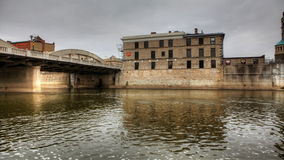 4K UltraHD A Controlled Motion Timelapse of a Bridge And old Buildings stock video footage