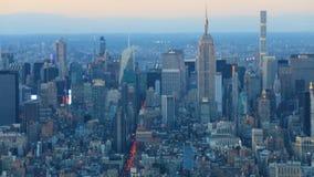4K UltraHD-Dag aan nacht timelapse van lager Manhattan stock video