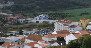 4K UltraHD-Dakmening, Silves in Portugal stock videobeelden