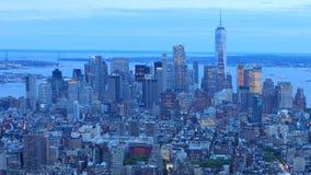 4K UltraHD Day night timelapse of downtown Manhattan stock footage