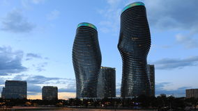 4K UltraHD Day to night Timelapse of the Absolute World Complex in Mississauga