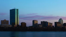 4K UltraHD Day to night Timelapse Boston. 4K UltraHD A Day to night Timelapse Boston stock video footage
