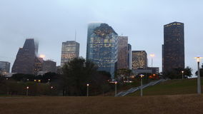 4K UltraHD Day to night timelapse of the Houston skyline