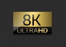 8K ultrahd-etiket Stock Fotografie