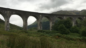 4K UltraHD The Glenfinnan Aqueduct in the Highlands of Scotland stock video