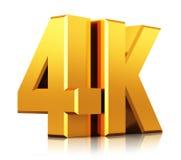 4K UltraHD-het embleem van TV Stock Foto's
