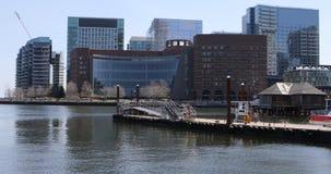4K UltraHD horizonte del puerto de la Boston, Massachusetts