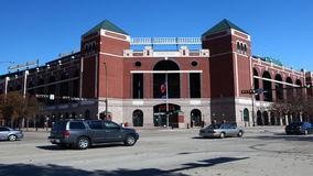 4K UltraHD kuli ziemskiej życia park w Arlington, dom MLB texas rangers zbiory