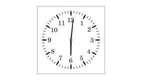 4K UltraHD loopable video animation of timelapse of clock. On white background stock illustration