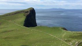 4K UltraHD-Mening op Neist-Punt, Skye, Schotland stock footage
