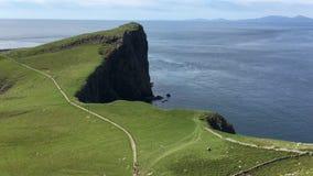 4K UltraHD-Mening op Neist-Punt in Skye, Schotland stock footage