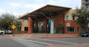 4K UltraHD-Mening van een lokaal kunstencentrum in Tempe, Arizona stock video