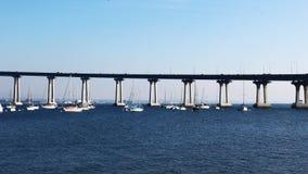 4K UltraHD A motion controlled pan timelapse of the Coronado Bridge in San Diego stock footage