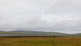 4K UltraHD The neolithic Ring of Brodgar, Orkney, Scotland stock video