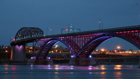 4K UltraHD Night Timelapse of the Peace Bridge stock video footage