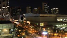 4K UltraHD Night timelapse of Phoenix city center. 4K UltraHD A Night timelapse of Phoenix city center stock video footage