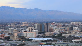 4K UltraHD Night timelapse in Tucson, Arizona at sunset stock footage