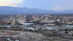 4K UltraHD Night timelapse of Tucson, Arizona at sunset stock footage