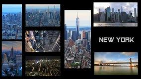 4K UltraHD Nueva York, collage video con un fondo negro metrajes