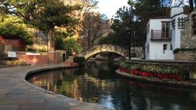 4K UltraHD Pan of the Riverwalk in San Antonio stock video