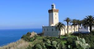 4K UltraHD Phare Cap Spartel Lighthouse near Tangier in Morocco. 4K UltraHD The Phare Cap Spartel Lighthouse near Tangier in Morocco stock video