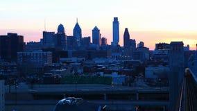 4K UltraHd Philadelphia ein timelapse von Franklin Bridge stock video