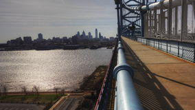 4K UltraHd Philadelphia a timelapse from the Ben Franklin Bridge stock footage