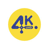 4k ultrahd-pictogram Stock Afbeeldingen