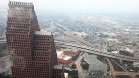 4K UltraHD Powietrzny timelapse Houston, Teksas zbiory