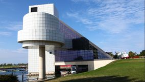 4K UltraHD The Rock and Roll Hall of Fame and Museum, Cleveland stock video