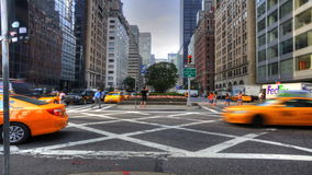 4K UltraHD The daily rush of traffic in Manhattan stock video
