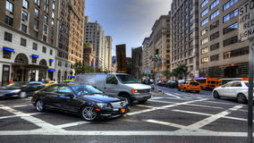 4K UltraHD The rush of traffic in Manhattan stock video