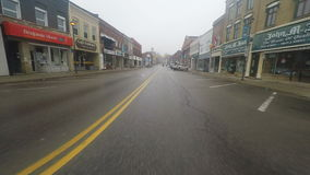 4K UltraHD A small town drive in misty weather conditions stock video