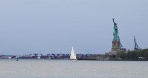 4K UltraHD Statue of Liberty off of Manhattan, New York. 4K UltraHD The Statue of Liberty off of Manhattan, New York stock video