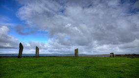 4K UltraHD The Stones of Stenness, Orkney, Scotland stock footage