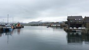 4K UltraHD Stromness harbor in Orkney stock video
