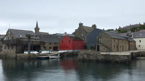 4K UltraHD By the Stromness harbor in Orkney, Scotland stock footage