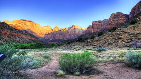 4K UltraHD Sunrise timelapse, Zion, Utah. Sunrise timelapse at Zion national Park, Utah stock video