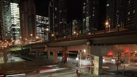 4K UltraHD Timelapse скоростной дороги ` s Торонто после наступления темноты акции видеоматериалы