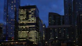 4K UltraHD Timelapse ядра ` s Торонто городского после наступления темноты видеоматериал