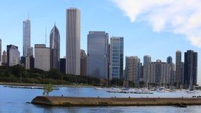 4K UltraHD Timelapse an aerial of the Chicago city center stock video