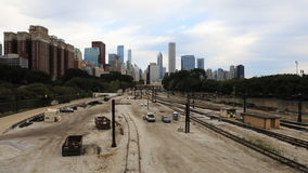 4K UltraHD Timelapse an aerial of the Chicago, Illinois city center stock footage
