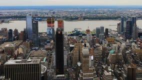 4K UltraHD Timelapse aerial in downtown Manhattan stock footage