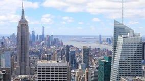 4K UltraHD Timelapse aerial of Manhattan, New York. 4K UltraHD A Timelapse aerial of Manhattan, New York stock footage