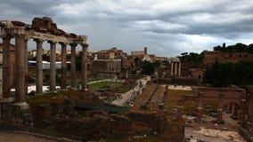 4K UltraHD Timelapse av det Roman Forum området, Rome arkivfilmer