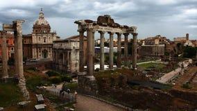 4K UltraHD Timelapse av det Roman Forum området, Rome, Italien lager videofilmer