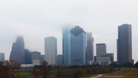 4K UltraHD Timelapse av en dimmig Houston horisont arkivfilmer
